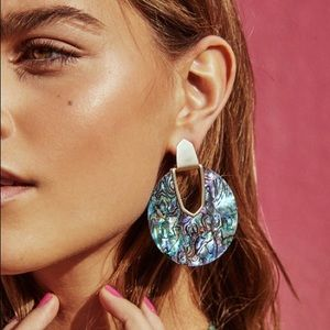 RESTOCK! Abalone Shell Round Disc Earrings